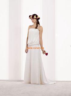 bodenlang Chiffon Chic & Modern Brautkleider 2014