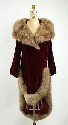 Evening coat  Date: ca. 1928
