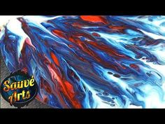 Fluid Acrylic Paint - Painting Using a Straw! - YouTube