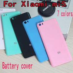 New Replace Battery Back Cover case for xiaomi mi5 mi 5 M5 hard Plastic protector cases for xiaomi mi 5 phone housing shell