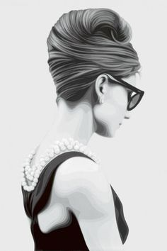 British artist Simon Claridge created series of amazing black and white paintings in the style of Audrey Hepburn Art, Let's Make Art, Cool Art Projects, Black And White Painting, Wow Art, Sculpture, Hair Art, Cool Eyes, Traditional Art