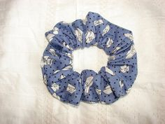 Nurse Doctor blue Fabric Hair Scrunchie with by coloradocntry