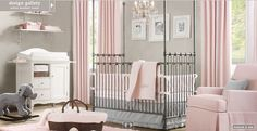 Take a look at our awesome baby girls room. Get more decorating ideas at http://www.CreativeBabyBedding.com