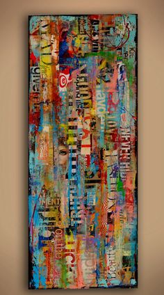 Title: Metromix 17 From my MetroMix collection I bring you MetroMix 15 - This one of a kind mixed media art piece was created on a solid wood