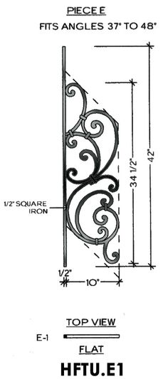 Cheap Stair Parts - Tuscany E1 - 37-48 Angled
