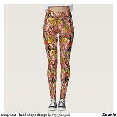 Discover Bee leggings at Zazzle! Wasp Nest, Head Shapes, Shape Design, Bee, Pattern, Pants, Women, Fashion, Trouser Pants