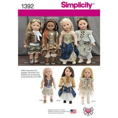 Simplicity Pattern 1392 Steampunk Costume for 18 inch Doll