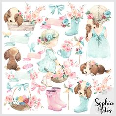 Baby Animal Drawings, Aqua Rose, Sweet Pic, Cute Bunny, Art Plastique, Colour Images, Print And Cut, Ballerina, Baby Animals