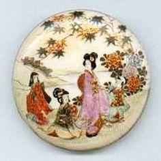 19th Century - Satsuma Button -