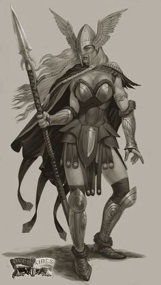 Valkyrie Picture (2d, character, valkyrie, girl, woman, warrior, fantasy)