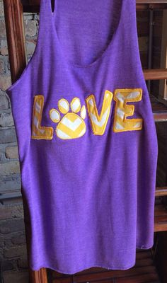 Purple and Gold Love Tanks