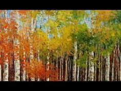 landscapes trees, especially fall and birch trees paintings