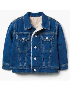 Boys Denim Jacket, Sherpa Denim Jacket, Cute Girl Outfits, Toddler Outfits, Kids Outfits, Trendy Baby, Girls Shopping, Gymboree, Toddler Boys