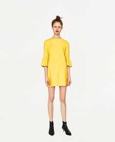 DRESS WITH FRILLED SLEEVES-DRESSES-WOMAN | ZARA United States