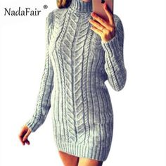 c3626137227 LASPERAL Winter Warm Turtleneck Sweaters Knitted Pullovers Female ...
