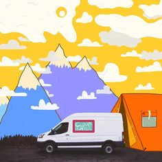 Italian artist Carlo Giardina (@finnanofenno) is turning pictures of your cars into art.  Every week were asking you guys to post a shot of your Ford along with some inspiration for Carlo. This is his collaboration with @vannathetransit who is referred to by her owner as a DIY adventuremobile. Vanna the Ford Transit who loves camping and driving on long open roads says sometimes I even like to find shapes in the clouds (Im old fashioned like that). Same Vanna. Same.  If you want your Ford…