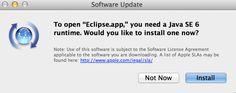 OS X Mavericks Eclipse Java Issue