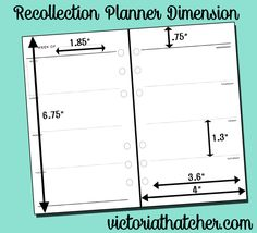 Recollections planner dimensions. Find free planner printables at Victoriathatcher.com