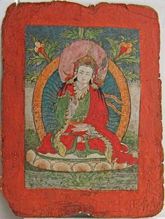An image of Padmasambhava on an initiation card, Tibet, 19th Century. Padmasambhava is regarded as the founder of the Nyingma tradition. The Nyingma tradition is the oldest of the four major schools of Tibetan Buddhism. The Nyingma tradition actually comprises several distinct lineages that all trace their origins to Padmasambhava.