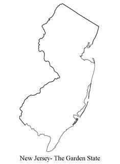 simple new jersey outline - Google Search