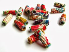 Japanese Fabric Beads - Hand Quilted Art Beads