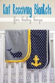 51 Things to Sew for Baby - Knit Receiving Blankets - Cool Gifts For Baby, Easy Things To Sew And Sell, Quick Things To Sew For Baby, Easy Baby Sewing Projects For Beginners, Baby Items To Sew And Sell http://diyjoy.com/sewing-projects-for-baby