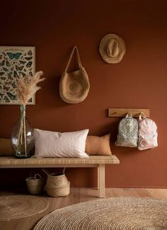Tendance : Miel ambré, la couleur de l'année (Frenchy Fancy) - Best Pins Living Room Decor, Bedroom Decor, Green Living Room Walls, Brown Bedroom Walls, Home And Deco, Room Colors, Home Decor Inspiration, Home Interior Design, Home And Living