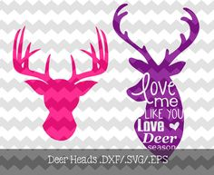 Deer Season Design .DXF/.SVG/.EPS Files for use with your Silhouette Studio Software