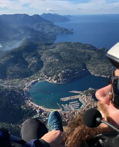 "Finca Ca N'Ai on Instagram: ""Keeping up posting cool places, here we share an amazing picture took during a paragliding flight over Port de Soller, a place we luckily…"""