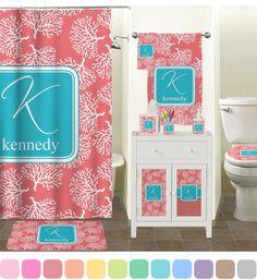 Coral Pink Bath Towels
