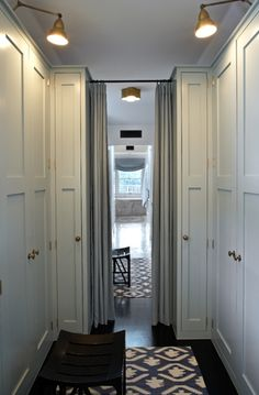 walk in closet. lights.