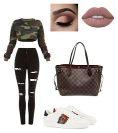 A fashion look from September 2017 featuring shirt sweater, high waisted distressed jeans and embroidered sneakers. Browse and shop related looks. Topshop, Gucci, Louis Vuitton, Shoe Bag, Polyvore, Stuff To Buy, Shopping, Collection, Shoes