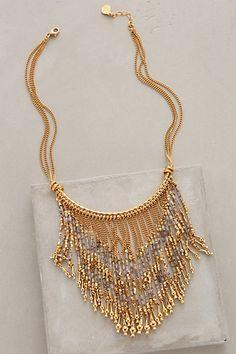 Luminescent Fringe Necklace #anthropologie