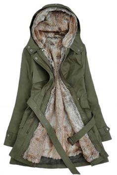 Winter Wonder Coat- Army Green: Fuck That Girly Shit