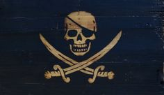This wooden pirate flag is a cool project I came up with using free pallet  wood…