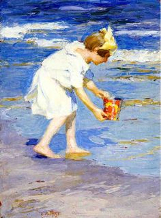 Brighton Beach by Edward Potthast #art