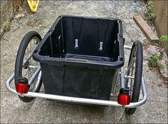 Bike trailer bin for the garden