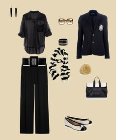 """""""Black and White Outfit"""" by mk63 on Polyvore"""