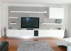 Bespoke Wall Unit Photo : Romandini Cabinets Melbourne VIC - I like this without the shelves to the left or above the TV