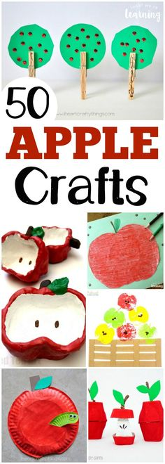 Get into the fall spirit with these absolutely adorable apple crafts for kidscraft to make! #crafts #craftsforkids #fall #kidscraft #autumn #kids