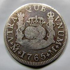 1765 Colonial Español (México) 2 Reales  ////////  1765 Spanish Colonial (Mexico) 2 Reales