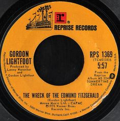 """Gordon Lightfoot wrote his 1976 song about the tragedy while reading a newspaper on an airplane. """"The Wreck of the Edmund Fitzgerald"""" reached No. 2 on American singles charts. Edmund Fitzgerald, Willoughby Ohio, The Distillers, Gordon Lightfoot, Great Lakes Ships, Canadian Things, Michigan Travel, It Goes On, Songs"""