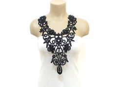 Luxury Handmade Cotton Lace Applique necklace  FREE by HAREMDESIGN,