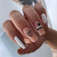 Classy Nails, Stylish Nails, Trendy Nails, Valentine's Day Nail Designs, Acrylic Nail Designs, Nails Design, Dope Nails, Swag Nails, Pink Nails
