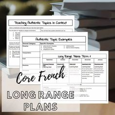 Having a plan is SO important to starting off your school year right. What makes these long range plans unique is that they focus on… French Basics, Core Curriculum, Airport Hotel, Learning Goals, Beginning Of The School Year, Go Shopping, Finance, The Unit, Range