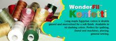 Wonderfil Konfetti - 50wt Long Staple Egyptian Cotton