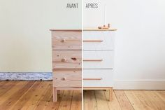 Après le Mölkky nous voilà de retour au mobilier avec la transformation d'une petite commode IKEA à trois tiroirs. Et pour que vous puissiez facilement la répliquer, nous vous dévoilons le pas à pa...