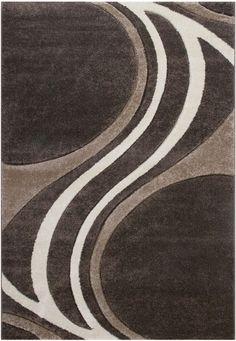 Wohnzimmer Teppich Carpet Modern Grau Beige Braun Weiss Style