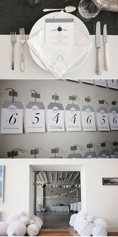 Place cards with washi tape