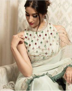wedding saree and wedding saree indian Latest saree blouse designs. wedding saree and wedding saree indian Latest saree blouse designs. Wedding Saree Blouse Designs, Saree Blouse Neck Designs, Fancy Blouse Designs, Kurti Designs Party Wear, Designs For Dresses, Designer Sarees Wedding, Sari Blouse, Latest Saree Blouse, Sari Design